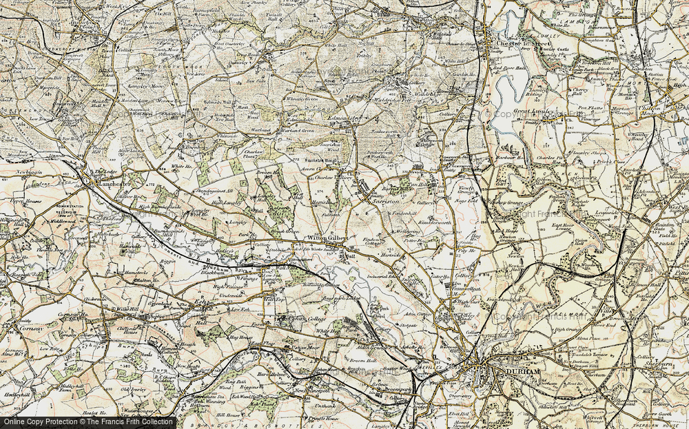 Map of Witton Gilbert 19011904 Francis Frith