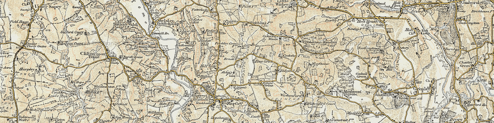 Old map of Witton Hill in 1899-1902