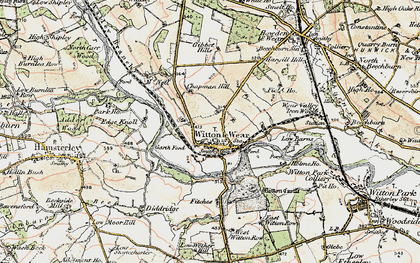 Old map of Witton Castle in 1903-1904