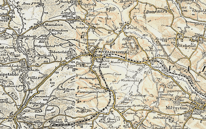 Old map of Abbotsfield in 1898-1900