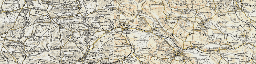 Old map of Wiveliscombe in 1898-1900