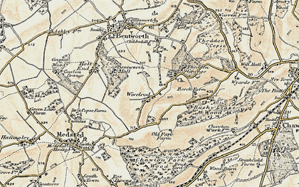 Old map of Wivelrod in 1897-1900
