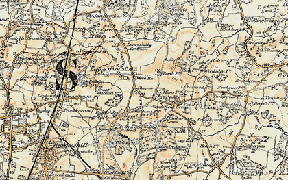 Old map of Wivelsfield in 1898