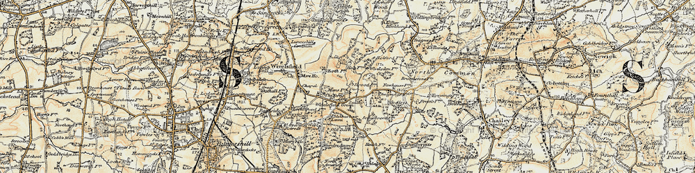 Old map of Wivelsfield Hall in 1898