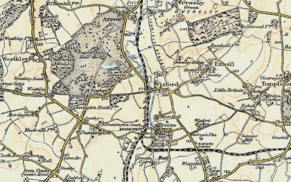 Old map of Wixford in 1899-1902