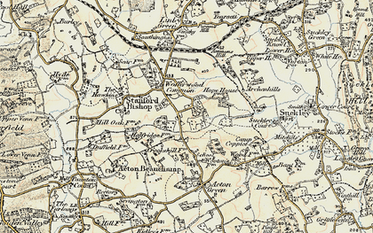 Old map of Wofferwood Common in 1899-1901