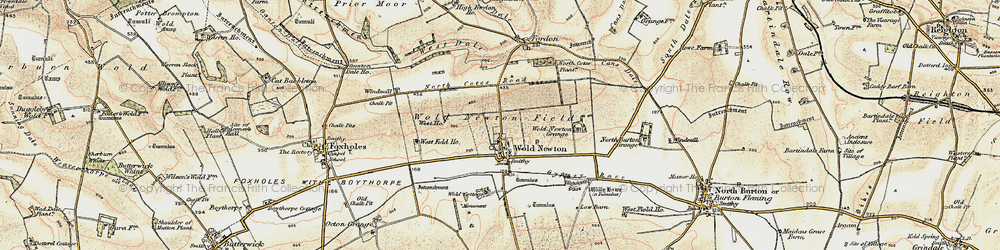 Old map of Wold Cottage, The in 1903-1904