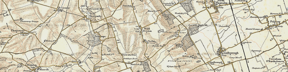 Old map of Wold Newton in 1903-1908