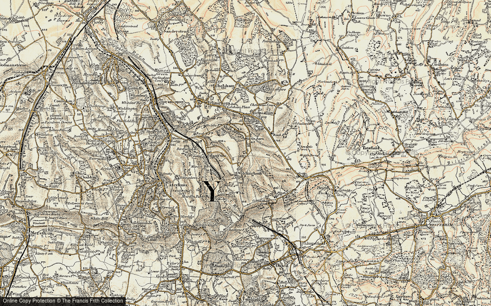Old Map of Woldingham, 1897-1902 in 1897-1902