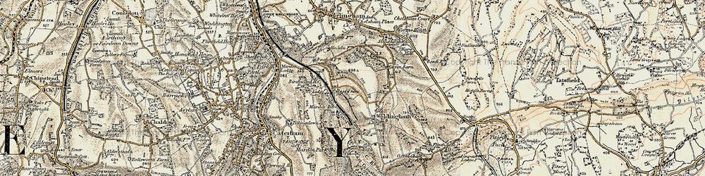 Old map of Woldingham Garden Village in 1897-1902