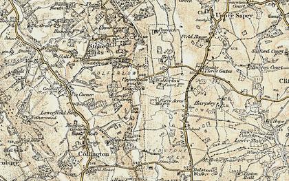 Old map of Wolferlow in 1899-1902