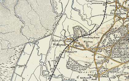Old map of Wolferton in 1901-1902