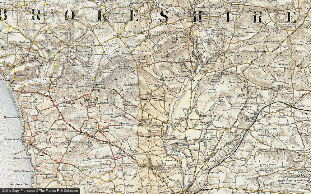 Old Map of Wolfsdale, 1901-1912 in 1901-1912