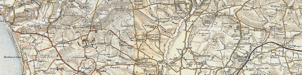Old map of Wolfsdale in 1901-1912