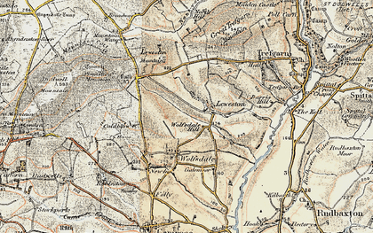 Old map of Wolfsdale Hill in 1901-1912