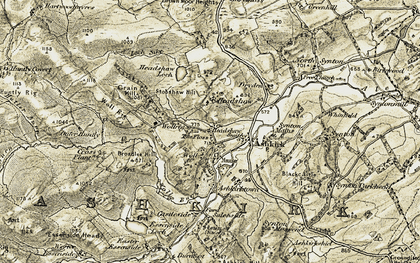 Old map of Woll in 1901-1904