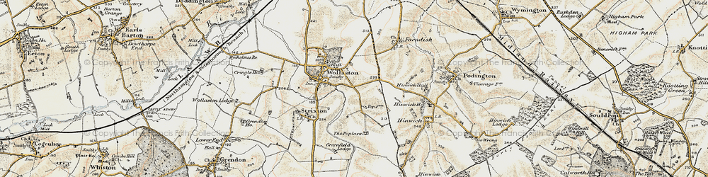 Old map of Wollaston in 1898-1901
