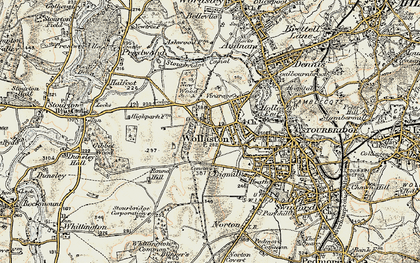 Old map of Wollaston in 1901-1902