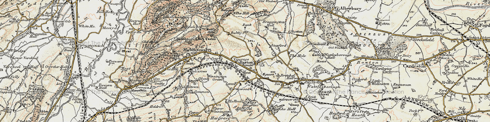 Old map of Wollaston in 1902