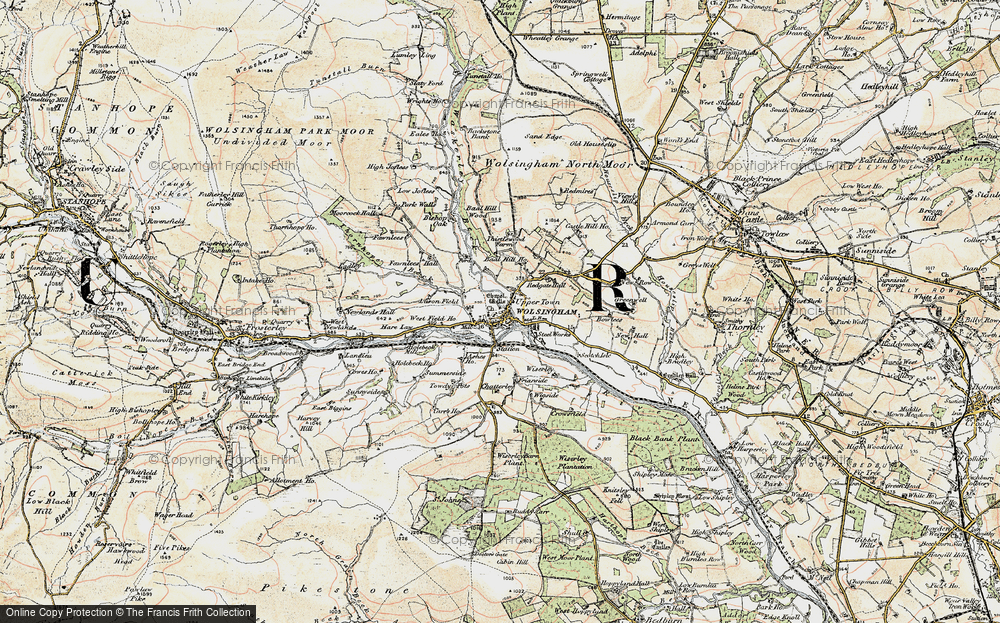Old Map of Wolsingham, 1901-1904 in 1901-1904