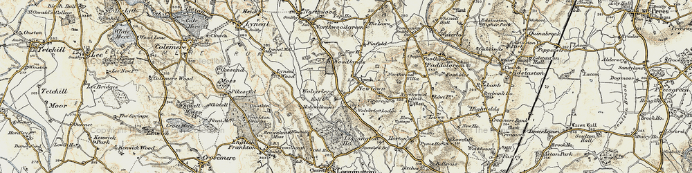 Old map of Woodlands, The in 1902