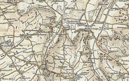 Old map of Limers Cross in 1898-1900