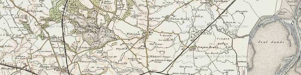 Old map of Wolviston in 1903-1904