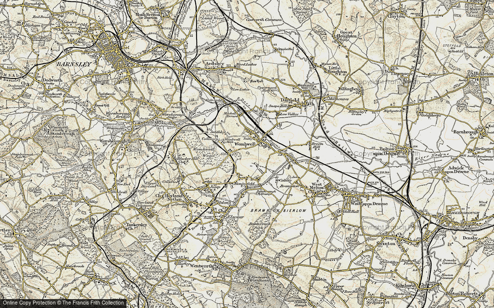 Old Map of Wombwell, 1903 in 1903