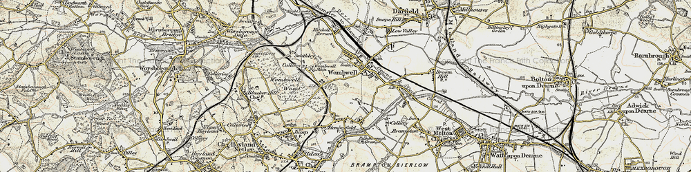 Old map of Wombwell in 1903