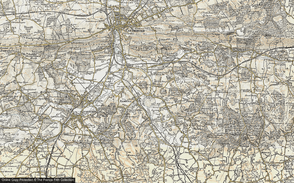Old Map of Wonersh, 1897-1909 in 1897-1909