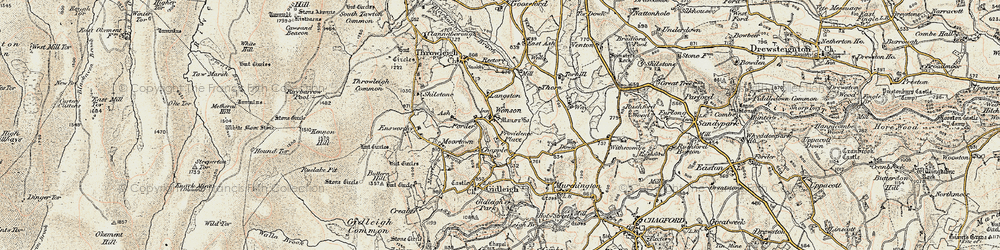 Old map of Wonson in 1899-1900