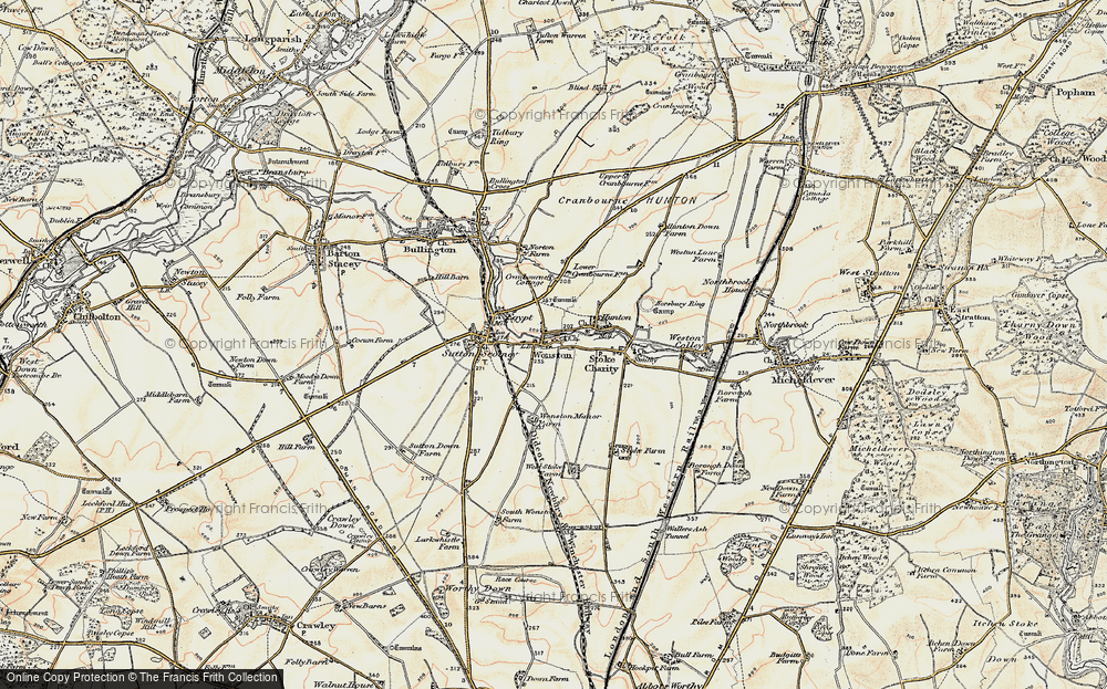 Old Map of Wonston, 1897-1900 in 1897-1900