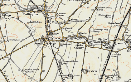 Old map of Wonston in 1897-1900