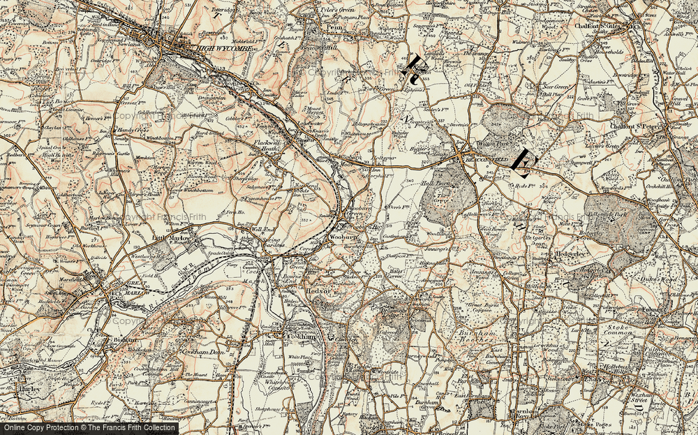 Old Map of Wooburn Green, 1897-1898 in 1897-1898