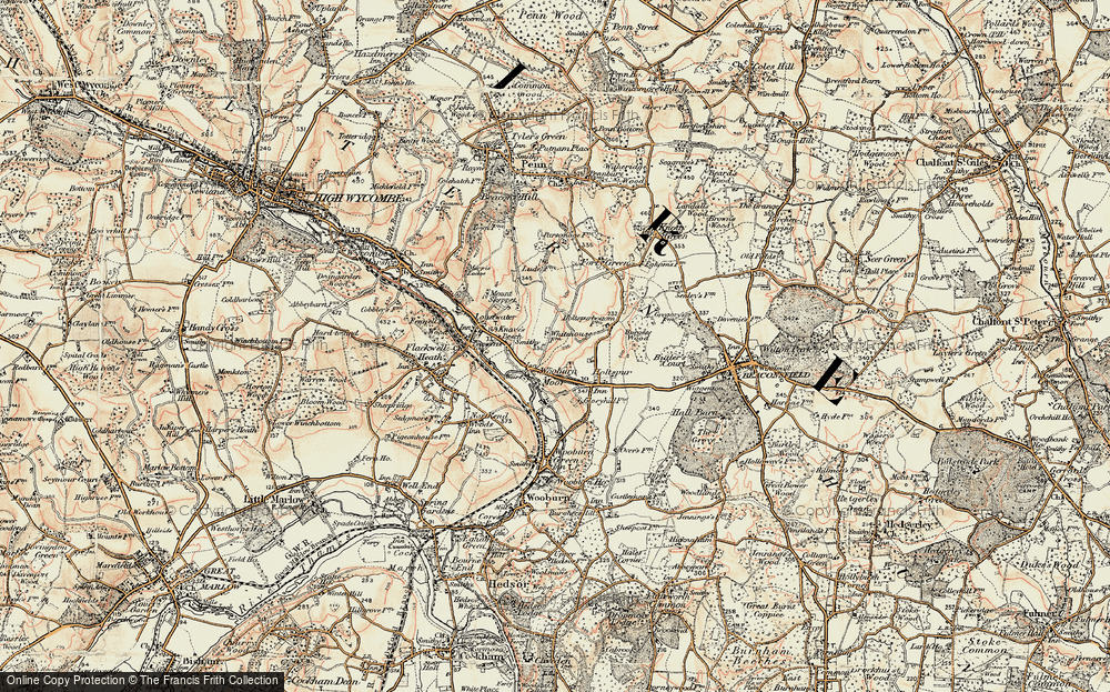 Old Map of Wooburn Moor, 1897-1898 in 1897-1898