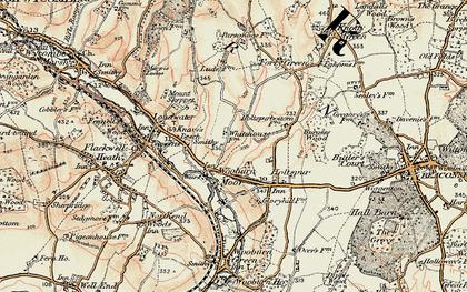 Old map of Wooburn Moor in 1897-1898
