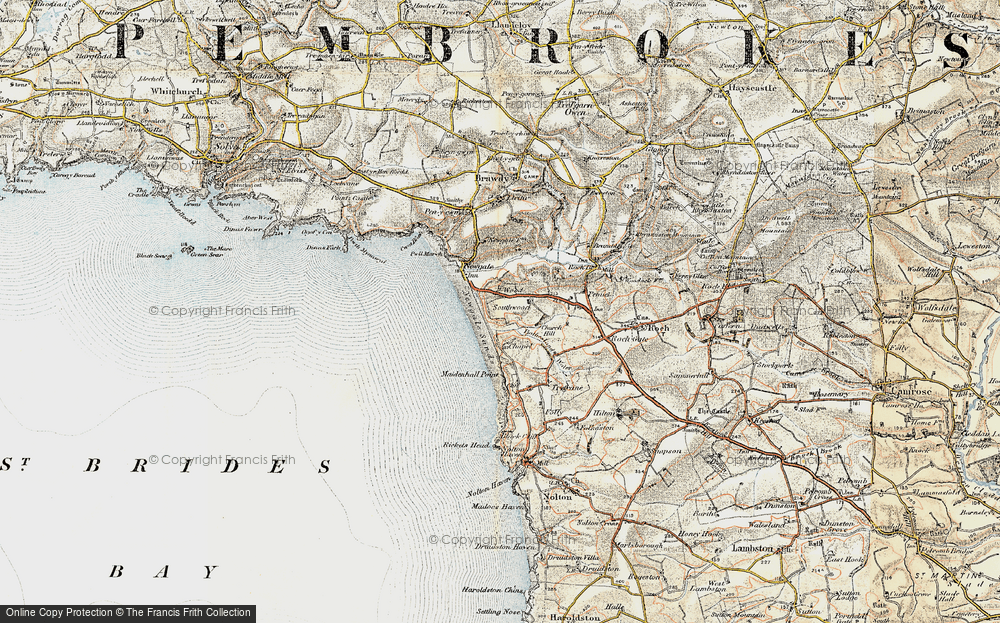 Old Map of Wood, 0-1912 in 0-1912