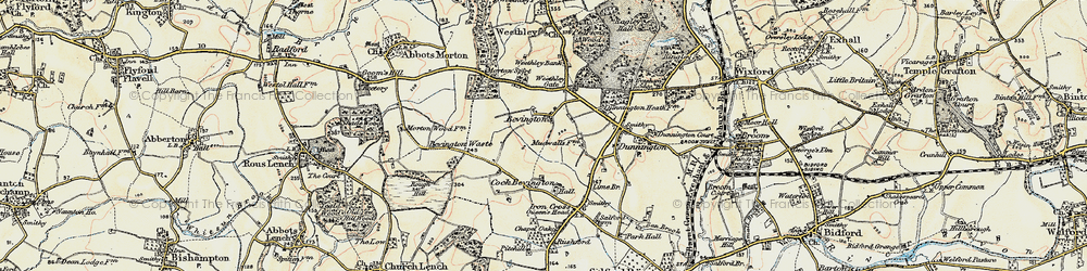 Old map of Wood Bevington in 1899-1901