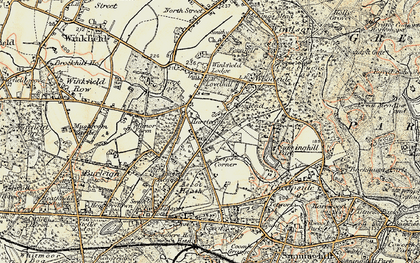 Old map of Ascot Heath in 1897-1909