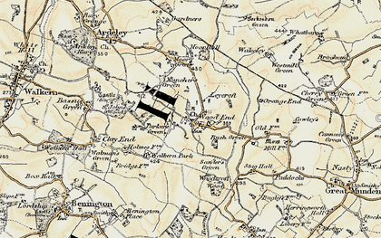 Old map of Wood End in 1898-1899