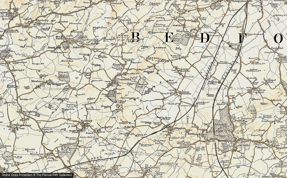 Old Map of Wood End, 1898-1901 in 1898-1901