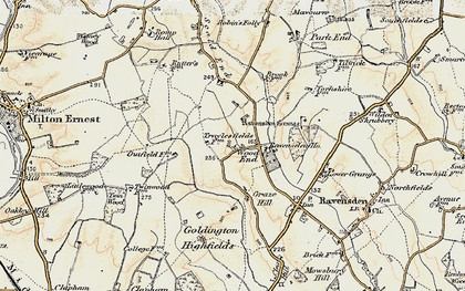 Old map of Wood End in 1898-1901