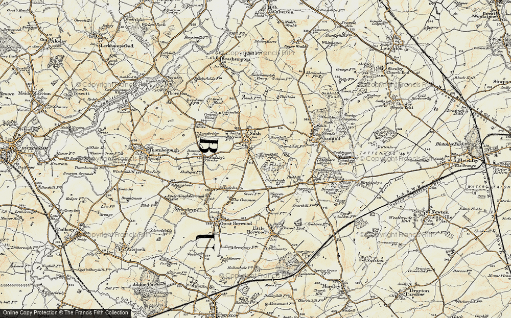 Old Map of Wood End, 1898 in 1898