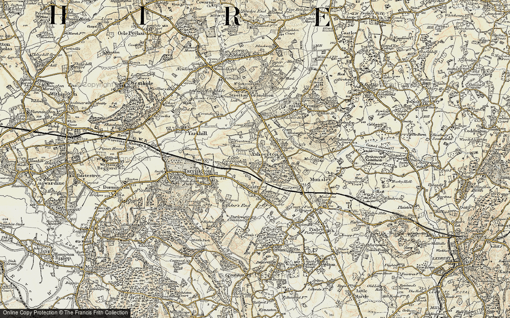 Old Map of Wood End, 1899-1901 in 1899-1901