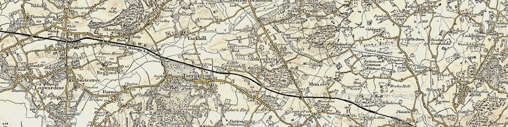 Old map of Wood End in 1899-1901