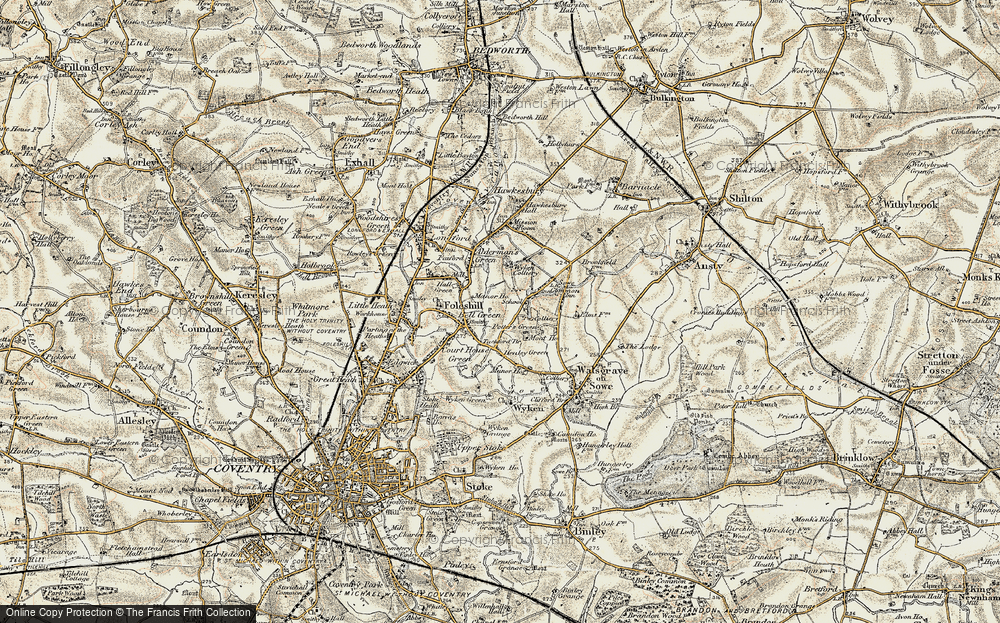 Old Map of Wood End, 1901-1902 in 1901-1902