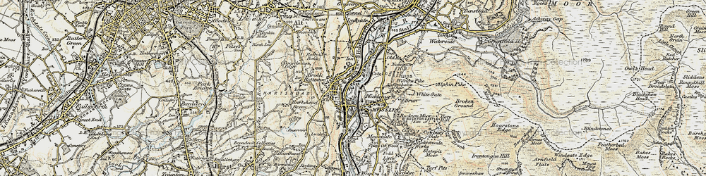 Old map of Wood End in 1903