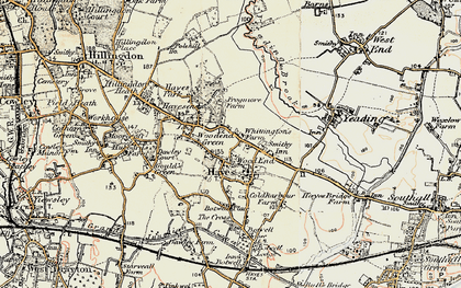 Old map of Wood End Green in 1897-1909