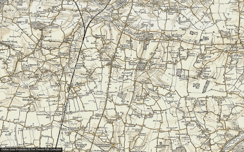 Old Map of Wood Green, 1901-1902 in 1901-1902