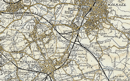 Old map of Wood Green in 1902